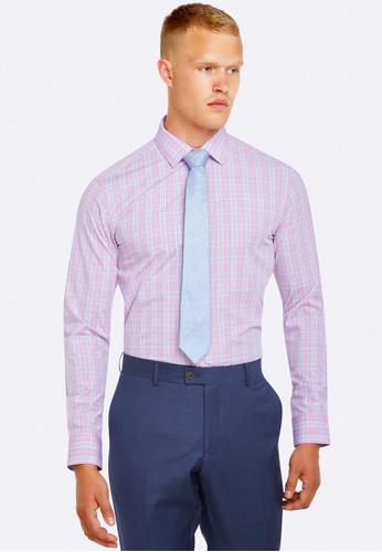 Oxford pink Beckton Checked Shirt OX512AA0HB2TSG_1