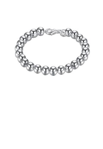 Glamorousky silver Simple and Fashion Geometric Ball Bead Bracelet 53335ACED36D52GS_1