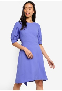 cb28e43fb27 CLOSET purple Closet Dress With Shaped Waistband D0ED5AA8987347GS 1