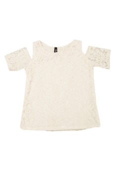 Carin Lace Cold Shoulder Top