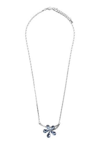 Edelweiss 閃鑽花飾吊墜esprit暢貨中心項鍊, 飾品配件, 項鍊