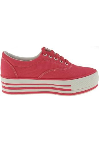 Maxstar red Maxstar Women's C40 5 Holes Platform Canvas Low Top Sneakers US Women Size MA164SH42POVSG_1