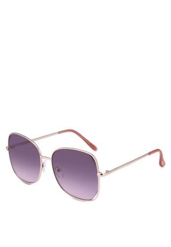 Mango gold Retro Style Sunglasses 053B2GLA18554CGS_1