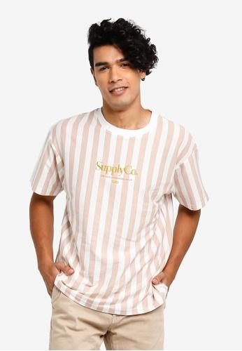Cotton On 多色 寬鬆品牌刺繡T恤 DCB10AAA694A6EGS_1