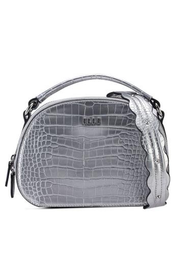 ELLE silver Fay Half Moon Bag F1496AC6091DB8GS_1