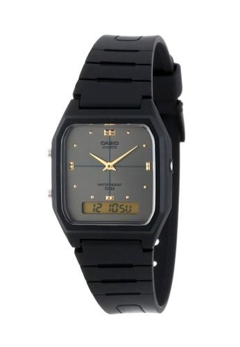 Casio black Casio Jam Tangan - Black - Resin - AW-48HE-1AVDF C0EF7AC7D79FC7GS_1