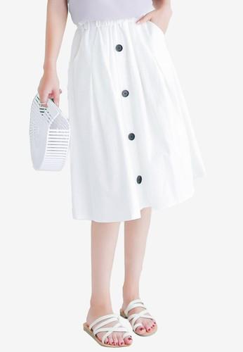 Shopsfashion white Midi Skirt in White 588CAAA5B54A80GS_1