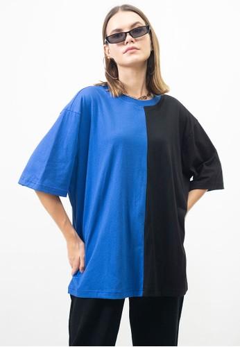 Ocwa Studio black and blue OCWA OVERSIZED HARLEY TEE 56E4FAADD4080FGS_1