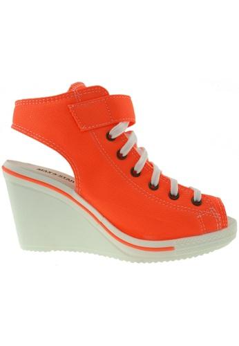 Maxstar orange Maxstar Women's 775 Open Toe Ankle Strap Canvas Wedge Heel Sandals US Women Size MA164SH76FMXSG_1