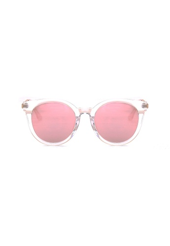 Kyfer's Eyewear & Essentials white and pink and gold Stylio Oversize Sunglasses KY376AC0FTR3SG_1