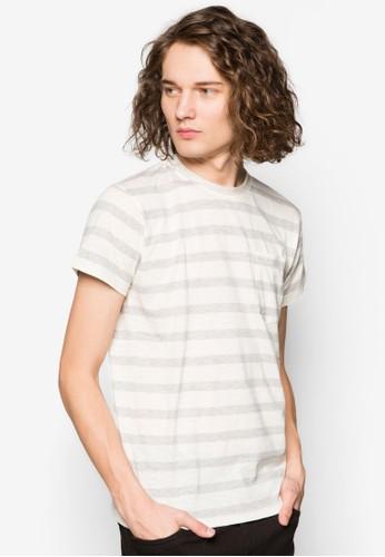 條紋口袋TEesprit 品牌E, 服飾, 印圖T恤