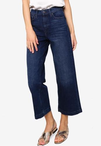 Banana Republic blue Crop Wide Jeans 09DF0AA3ACFEC0GS_1