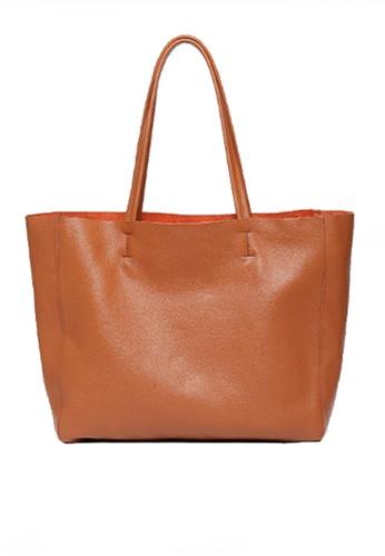 Twenty Eight Shoes brown VANSA Top Layer Cowhide Tote Bag VBW-Tb1313 AD235AC9FD6B2BGS_1