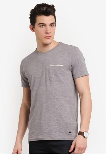 Boss Orange grey Tile T-Shirt BO434AA0RIDQMY_1