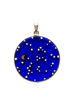 Millefiori Glass Pendant - Starry Night 18mm