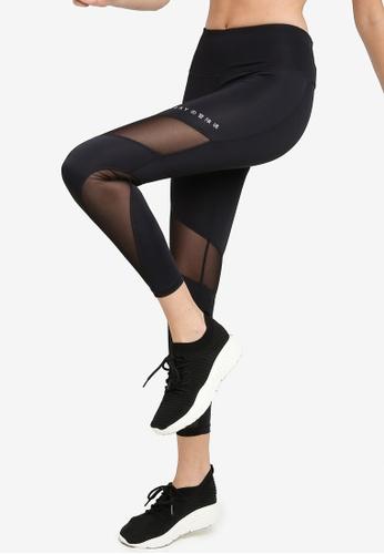 SUPERDRY black Training Mesh 7/8 Leggings E8D74AA8033562GS_1