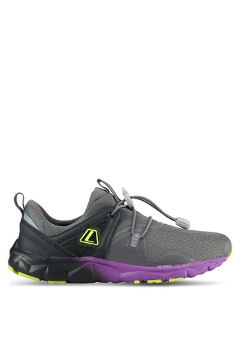 League grey and multi Poste Running Shoes LE683SH0S2OLMY_1