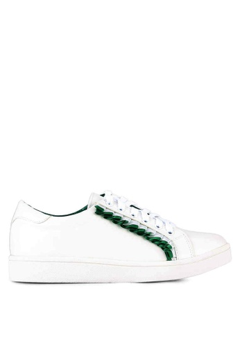 Something Borrowed white Frill Lace Up Trainers D7214SHAA24D88GS_1