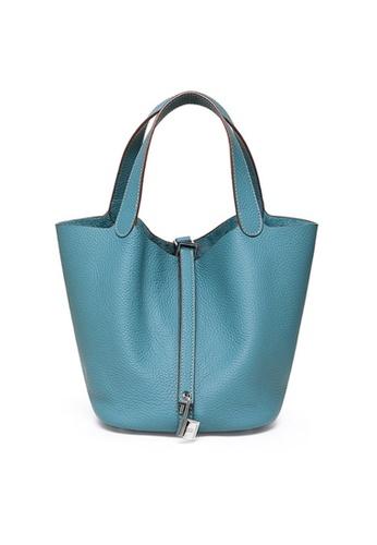 Twenty Eight Shoes blue VANSA Simple Leather Bucket Hand Bag VBW-Hb928700S 7A2BCAC72E3280GS_1