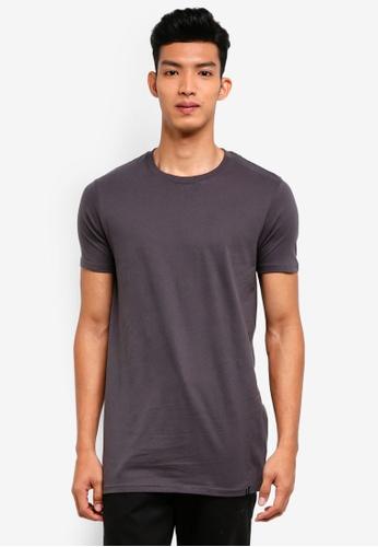 Factorie 黑色 短袖素色T恤 9143FAA1BE2252GS_1