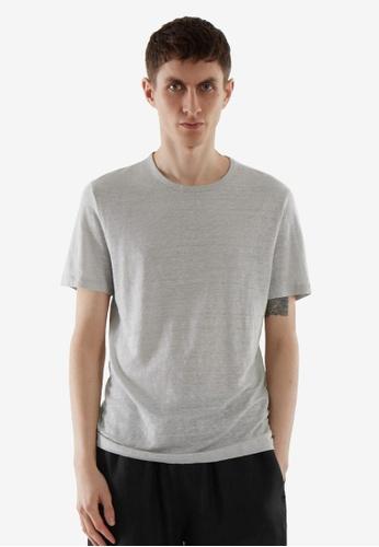 COS grey Regular-Fit Linen T-Shirt 6AA9CAA1BEF5C1GS_1