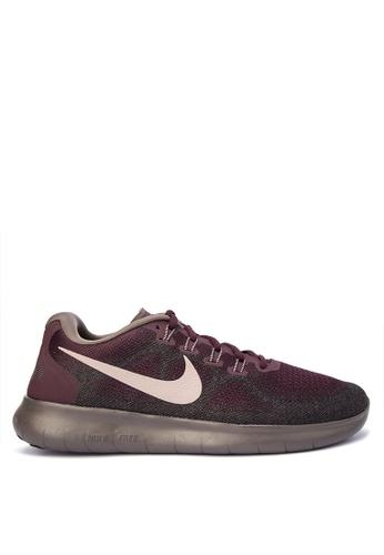 Nike red Men's Nike Free RN 2017 Running Shoes NI126SH0STSBMY_1