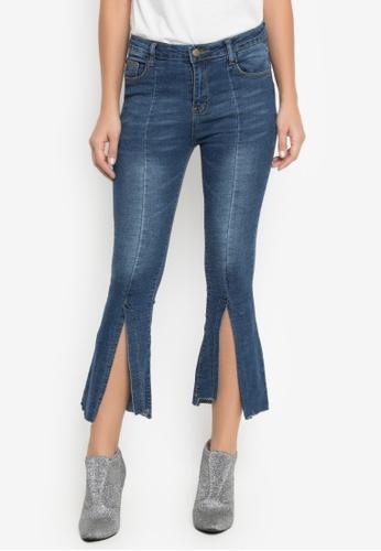 Balaynor blue High Waist Ambel Jeans with Slit 448F1AAFEF9FBCGS_1