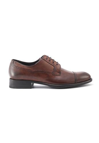 Gay Giano 褐色 棕色小牛皮德比鞋 08794SH2D3FC88GS_1