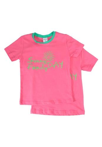 UniqTee pink Sunny Day Tee 2-Pack 88C93KA03D8652GS_1