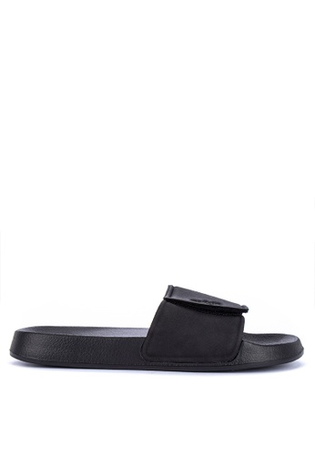 OXYGEN black On Trend Rubber Sliders With Velcro BF268SHC630DE5GS_1