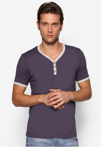 簡約亨利短袖上衣esprit鞋子, 服飾, 素色T恤