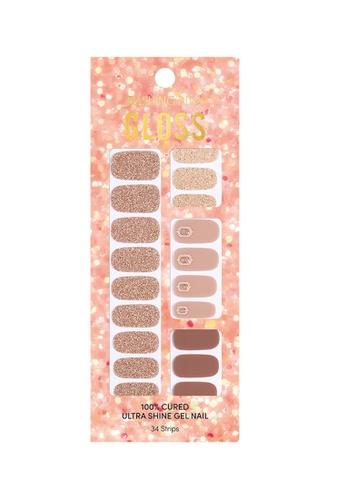 Dashing Diva brown Dashing Diva Gloss Gel Strip Manicure Cozy Ornament /Nail Sticker /Nail Wraps 55E5EBE7AA4682GS_1