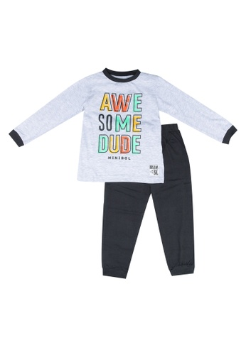 Babybol grey Childrens Awesome Dude Pyjamas 41D5EKA3F034E6GS_1