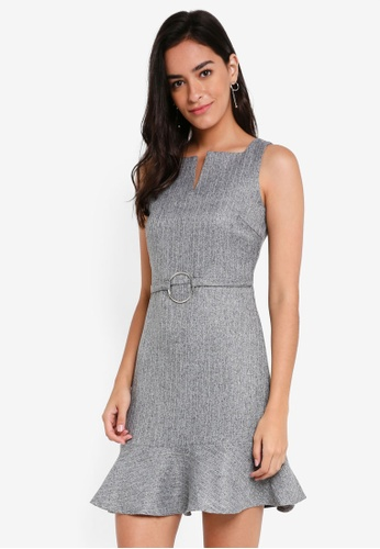 ZALORA grey Sleeveless Mod Dress E961EAA73FC6BEGS_1