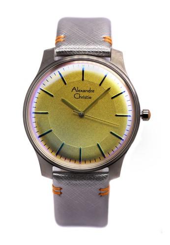 Alexandre Christie silver Alexandre Christie Jam Tangan Pria - Silver - Leather Strap - 8532 MHLIGSL AL709AC0UGLFID_1