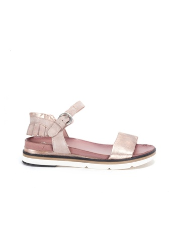 Shu Talk gold Simple Comfy Sandals with Ruffles Ankle Straps 5AD7ESHD5EC711GS_1
