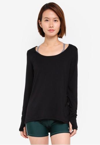 Cotton On Body black Long Sleeve Sports Top 52371AA55C1ECAGS_1
