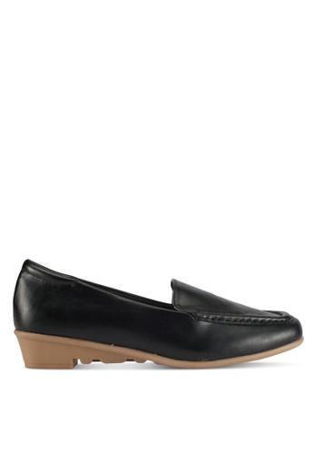 Alfio Raldo black Pleather Loafers 5B415SH647F83DGS_1