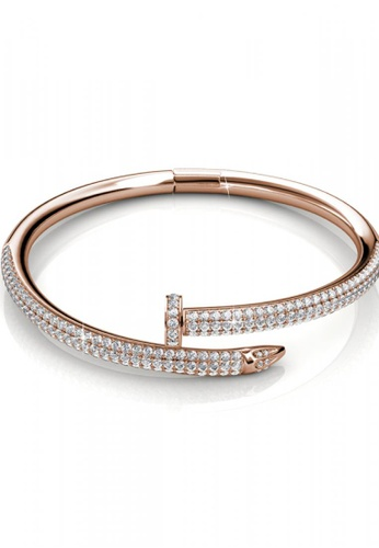 Her Jewellery gold Her Jewellery Nail Bangle (Rose Gold) with Premium Grade Crystals from Austria 5E97CACC6A5D20GS_1