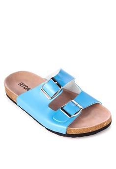 Janelle Two Straps Flat Slides