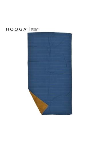 HOOGA brown and blue Hooga Bath Towel Larkyn. E6819HL1A51004GS_1