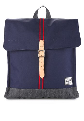 Herschel multi and navy City Mid-Volume Backpack - Offset E77E0AC880006DGS_1