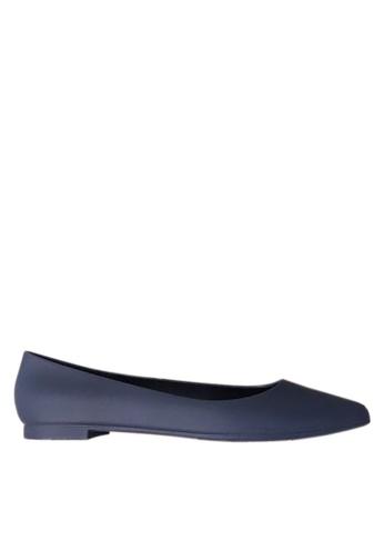 Twenty Eight Shoes 藍色 優雅輪廓果凍膠雨鞋 VR53 2FD72SHAED085EGS_1