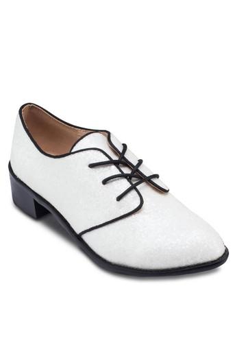 滾邊繫帶zalora taiwan 時尚購物網鞋子牛津鞋, 女鞋, 鞋