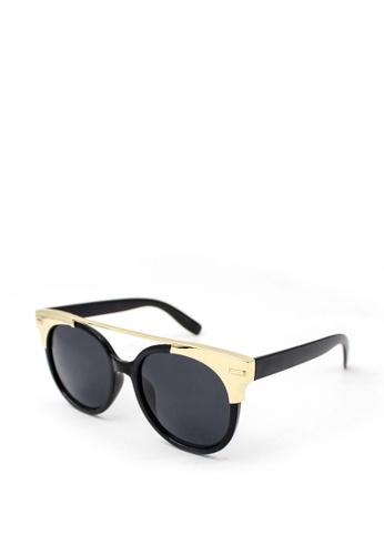 Peculiar and Odd black Peculiar Round Oversized 15707 Mirrored Sunglasses 8849CGL22D1552GS_1