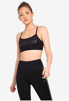 036553d7b2310 Calvin Klein black Logo Crossback Strap Bra - Calvin Klein Performance  EA292US7DBD4D0GS_1