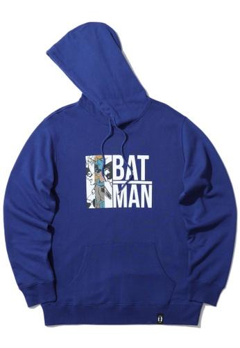 BLOCKAIT blue X Batman graphic print hoodie 7EC4DAADBC761AGS_1
