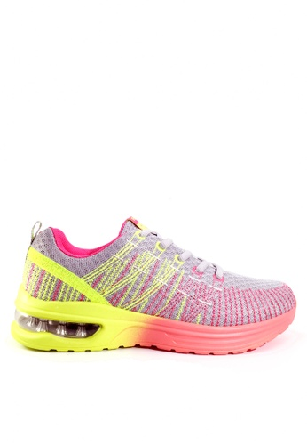 Twenty Eight Shoes 灰色 刺繡網布氣墊跑步鞋 VT861 AC1BCSHEAE92D0GS_1