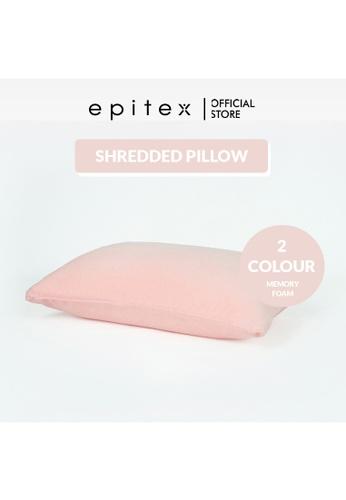 Epitex pink Epitex Shredded Memory Foam Neck Support Pillow - Firm Neck Pillow (Light Pink) 1E3E0HL20B142BGS_1