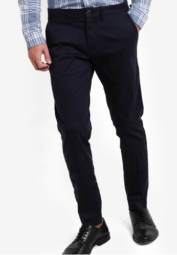 Selected Homme navy Straight Trousers SE364AA85QVIMY_1